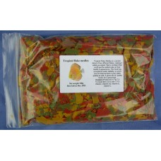 Tropical Medley discus fish flake food 100 grams.