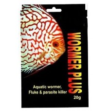 Wormer plus, aquatic fish wormer, fluke and parasite killer 20g.