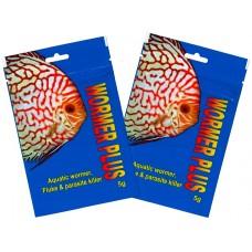 Kusuri Wormer plus, aquatic fish wormer, fluke and parasite killer 5g x 2 packs.