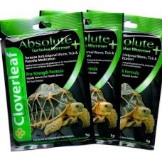 Cloverleaf Absolute Tortoise Wormer + 5% Pro-Strength Reptile Formula, 3 x 5g pack's.