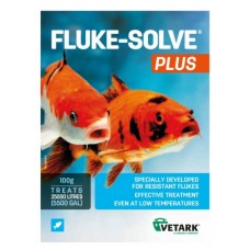 NEW!! Fluke Solve PLUS!! 100g  Praziquantel Pond fish Parasite Wormer Treatment, the product specially designed for resistant flukes.