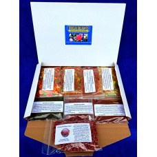 Discus delights no frill's pizza box style hamper pack with a 100g pack of Beefheart pellet food.