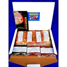 Discus delights no frill's pizza box style hamper pack with a 2000 gallon pack of wormer plus.