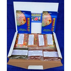Discus delights no frill's pizza box style hamper pack, and 2 x 500 gallon wormer plus.