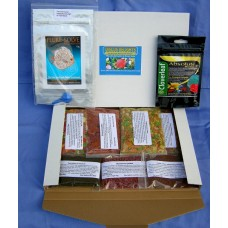 Discus Delights no frill's pizza box style Food Hamper, 1 x 5,000 gallon pack of Cloverleaf Absolute wormer + Plus a Pack Of 10g Fluke Solve.