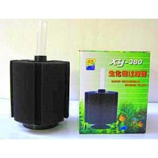 Offer! 2 x super biochemical sponge filter (model XY-380) Ideal for breeding.