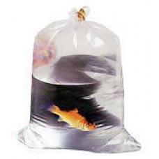 """12 x plastic fish transport bags 8"""" x 19""""."""