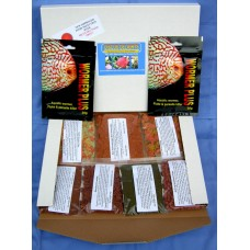 Discus delights no frill's pizza box style refill hamper pack with 2 x 2000 gallon pack's of wormer plus.