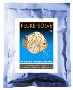 Fluke solve  aquarium 10g sufficient for 2,500 litres (550 gallons).